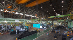 Crawler crane assembly line