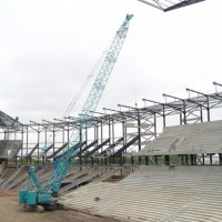 CKE1350 Working on the football stadium construction (Milton Keynes, UK)