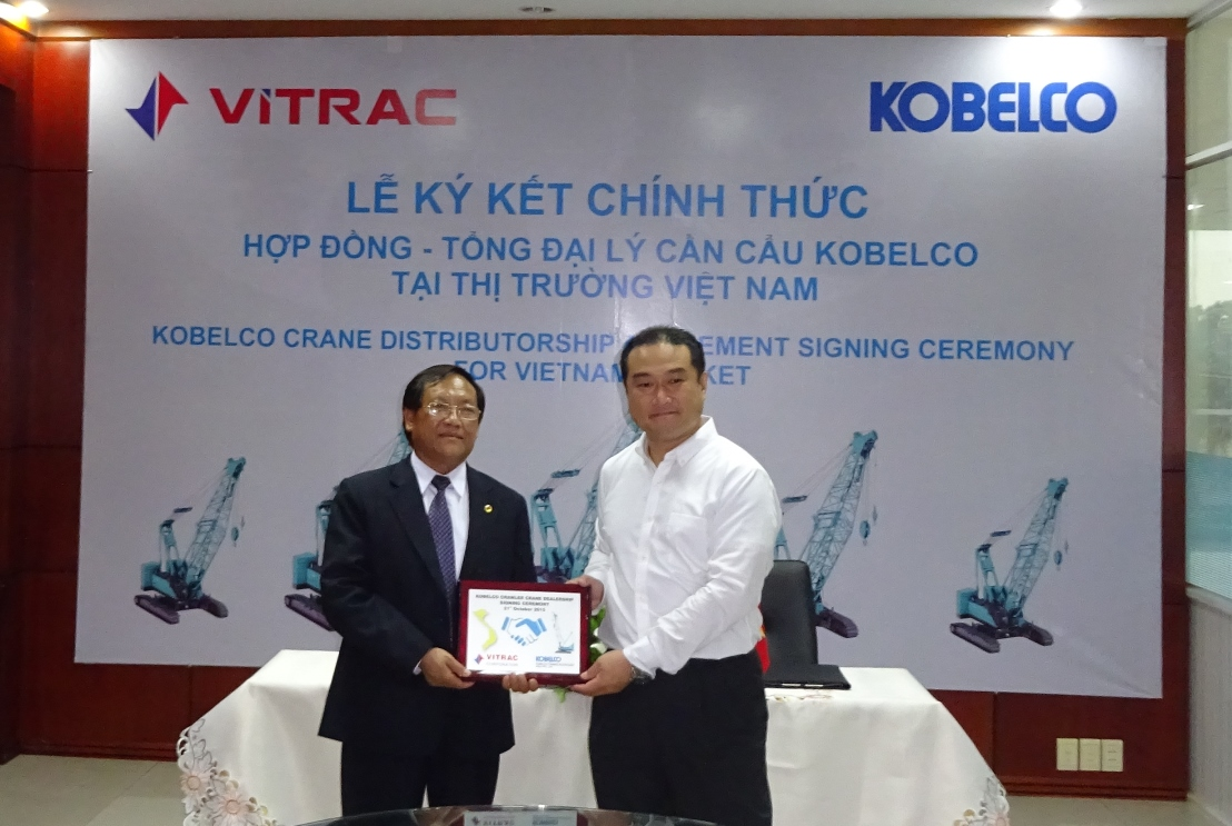Kobelco Cranes South East Asia appoints Vitrac Corporation as the